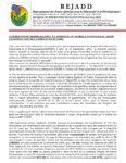 DECLARATION DU REJADD RELATIVE  A L'ANIMOSITE  DE  LA MILICE DU POUVOIR DE  FAURE GNASSINGBE CONTRE LA POPULATION DE LOME