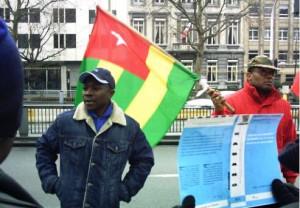Les Togolais de la diaspora belge 2013 manifestation bruxelles