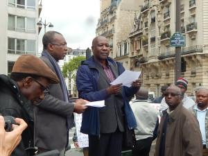 Manifestation ambassade du Togo le 2 mai 2015