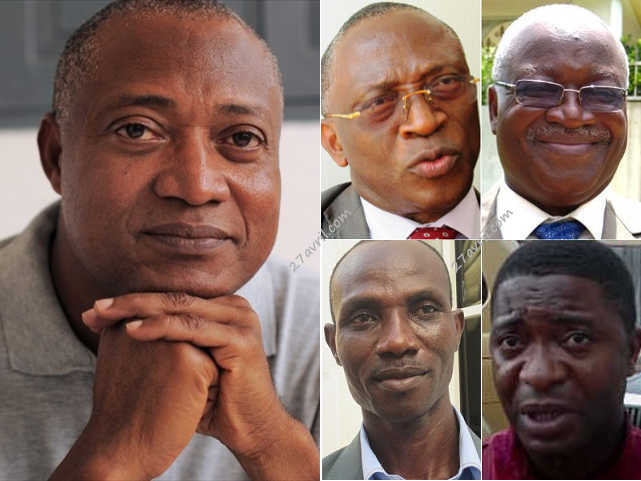 Les leaders de l'opposition parlementaire togolaise   Infog : 27avril.com