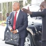 Lomé, le 19 février 2018. Coupole présidentielle de l`hôtel du 02 FEVRIER. Ouverture du 27e dialogue intertogolais, arrivée de diverses personnalités. J.-P. FABRE.